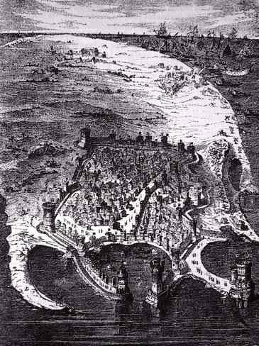 Abbildung Insel Rhodos, von Gustav Doré, 19. Jh.