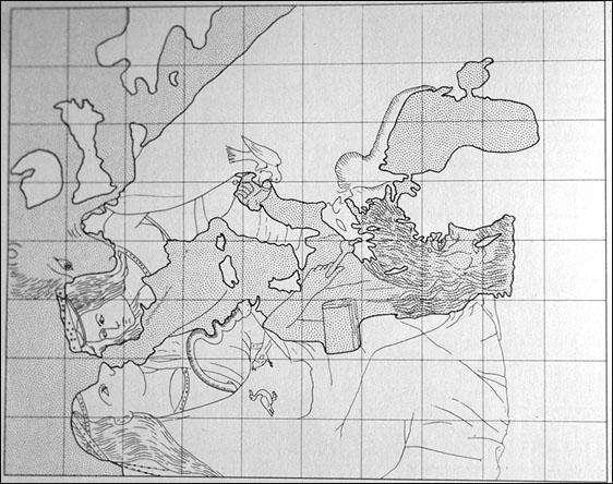 Opicinus de Canistris ca. 1335