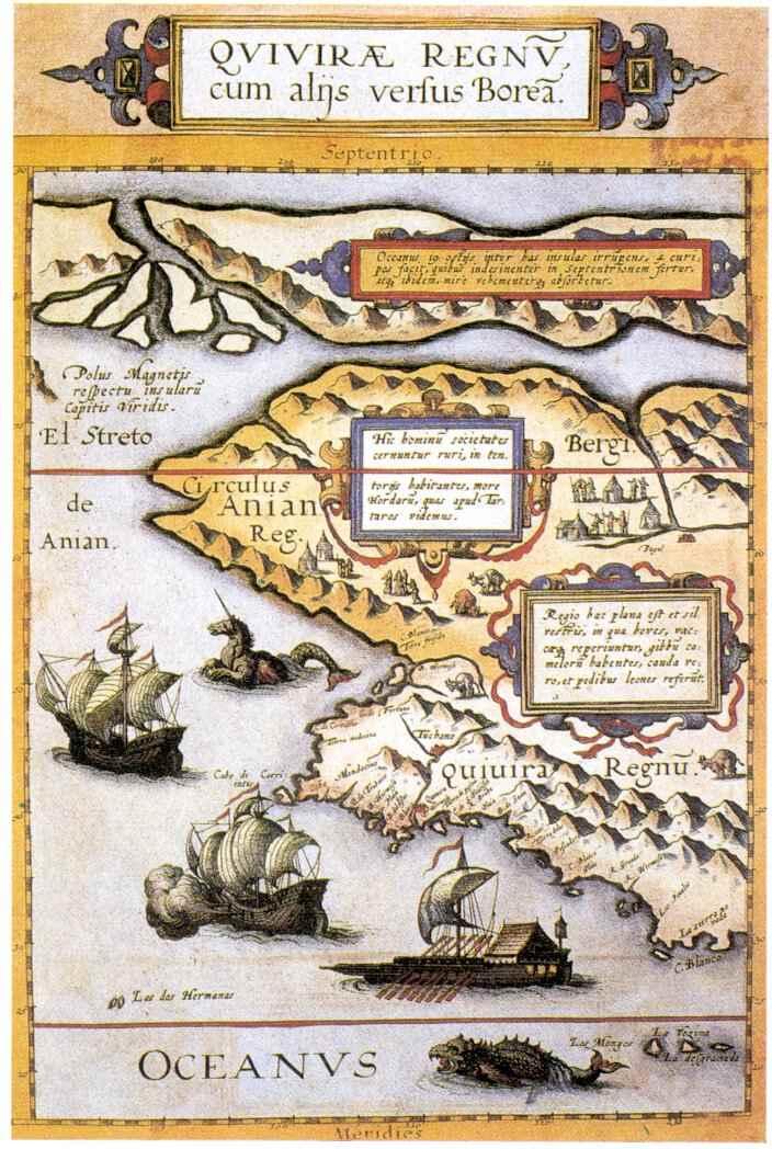 Cornelis de Jode Karte Nordwestamerikas, 1593
