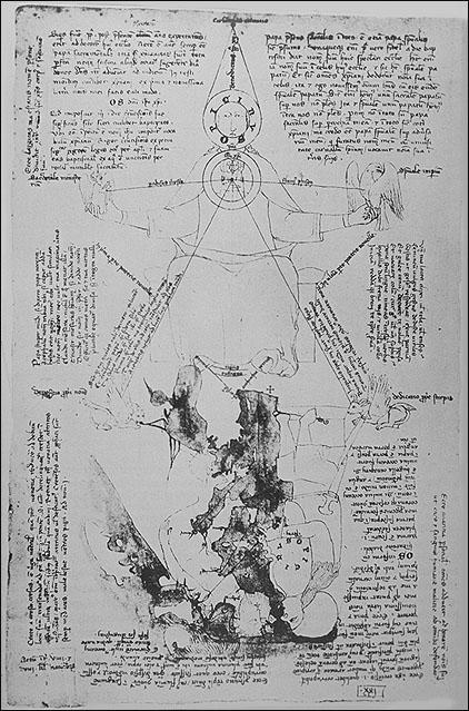Opicinus de Canistris Weltkarte, 14. Jh